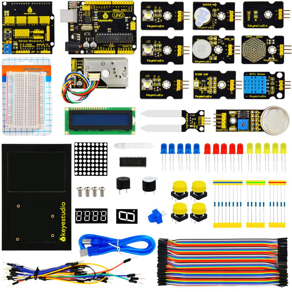 2018 NEW keyestudio Environment Monitoring PM2 5 Kit for Arduino Education Starter With Uno board V5
