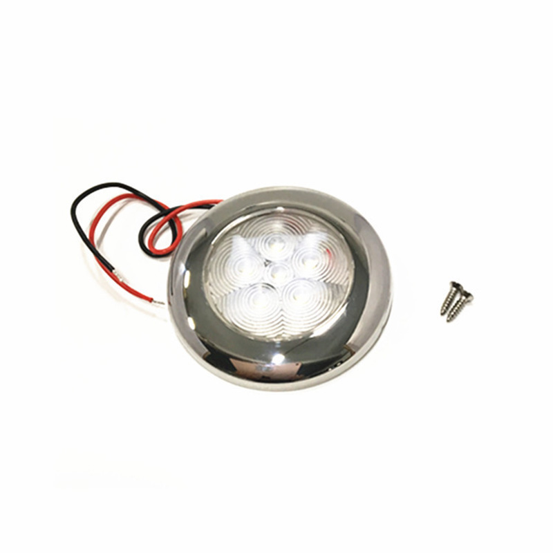 Image 2 - 12V Marine Boat Yacht RV LED Light Stainless Steel Housing White Blue Dome Light Interior Lamp-in Marine Hardware from Automobiles & Motorcycles