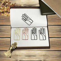 Clips de papel con forma de mano Vintage Fromthenon para diario de viaje Midori accesorios grandes clips de papel marcapáginas de papelería decorativa