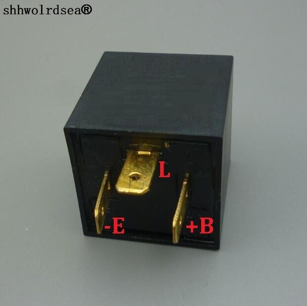 Shhworldsea 3 Pin Flasher Relay For 12v 24v European And