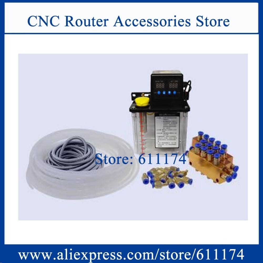 フルセット1l自動潤滑ポンプcncデジタル電子タイマーオイルポンプac220v cncマシン潤滑グリースポンプ  グループ上の 家のリフォーム からの パンプス の中 1