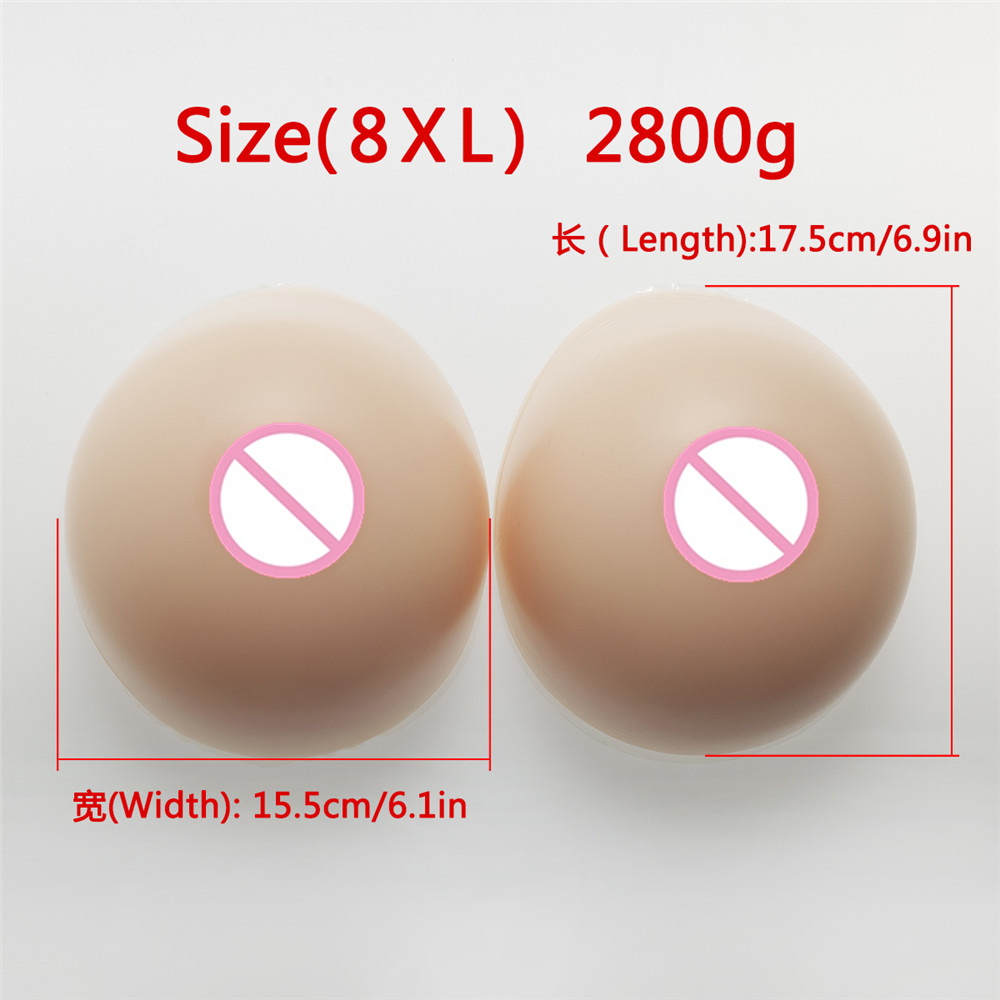 Silicone Breast Forms 2800g/Pair Crossdress Drag Queen False Artificial Breasts Fake boobs Realistic Medical Silicone Breast