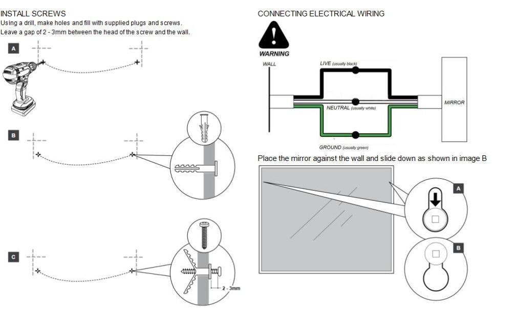 wiring led bathroom mirror wiring data u2022 rh 144 202 108 125 LED Lights 12V LED Wiring Diagram