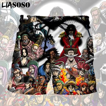 LIASOSO 3d Print Japan Anime One Piece Luffy Trafalgar Law zoro Mens Shorts Beach Casual Boardshorts Trousers X1352