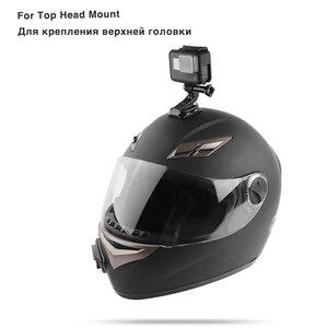 Image 3 - Комплект аксессуаров для шлема на лицевой стороне, J образная Пряжка, опорное крепление для GoPro Hero 5 6 7 4 Xiaomi Yi 4K SJCAM Go Pro, комплекты