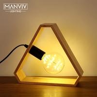 Modern Table Lamp 220V E27 Wood Bedside Lamp Bedroom Desk Lamp Nordic Lampe De Chevet De Chambre Night Light For Home Decorate