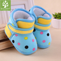 Newborn Baby Girl Boy Warm Fleece Snow Boots Kids Princess Dot pattern Winter slippers Baby Soft Sole First Walkers Booties