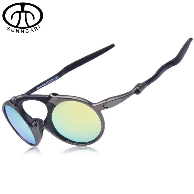 Prix pour D'origine Marque Conception Vélo Verre lunettes de Soleil Polarisées Alliage Cadre Vélo Lunettes Avec Logo oculos de sol 6019