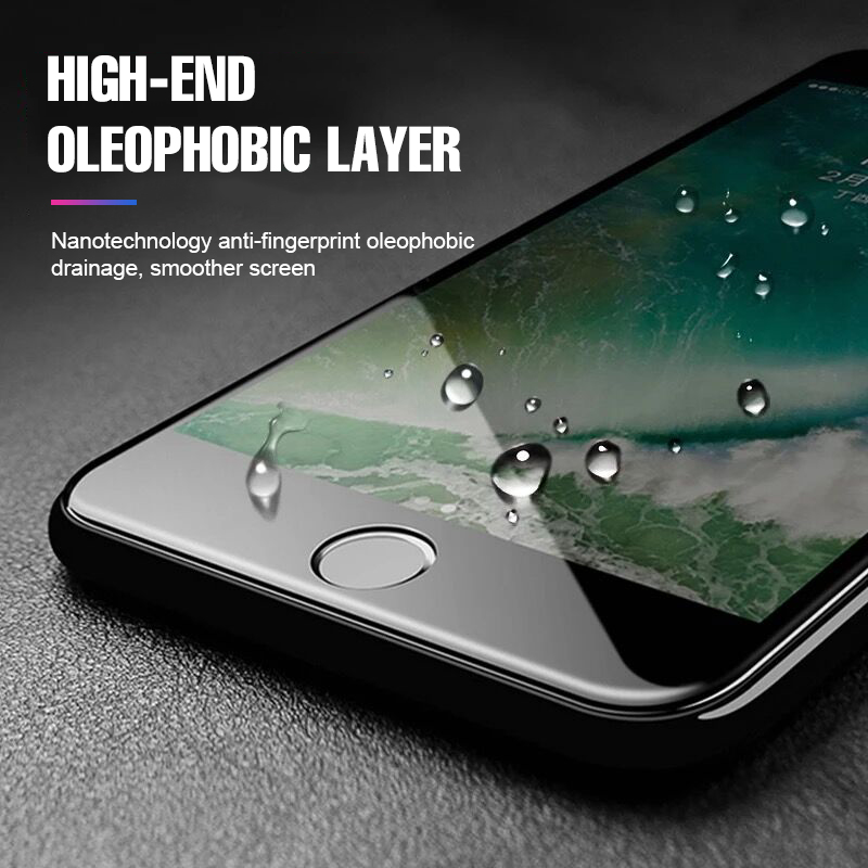 10D Full Protective Glass For IPhone 6 6s 8 7 Plus Tempered Glass Cover For IPhone 8 7 6 6s Plus Screen Protector Glass Film
