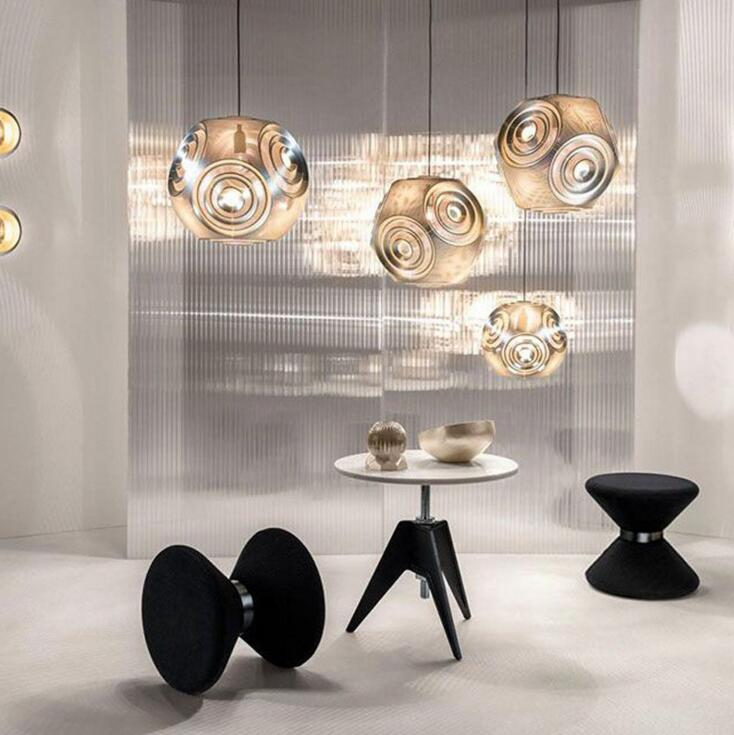 Creative stainless steel geometric chandelier post modern restaurant bar cafe living room space ball light led fixture led lamps modern europe stainless steel creative circle pendant light led firework lamp ball lamp for restaurant living room cafe bar