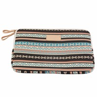 Bohemian Design 12 14 15 Inch Canvas Laptop Bag Notebook PC Sleeve Case Pouch For Woman