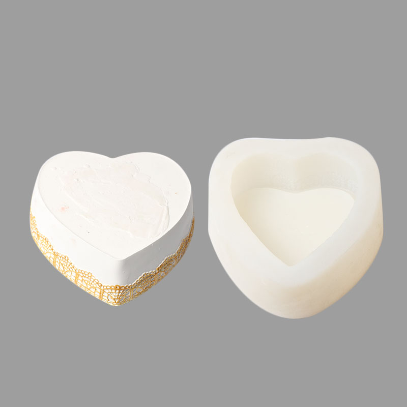 3D Heart-shaped Silicone Mold for Jewelry Production Decoration Tools Translucent Silicone Mold for Jewelry Decoration animal head modeling silicone fondant mold