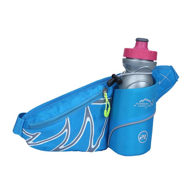 Diseñador de la marca Unisex Hombres y Mujeres Bolso de La Cintura A Prueba de agua Bolsa Bolso de La Cintura Pequeña Riñonera Peso Ligero Conveniente Azul Negro