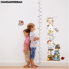 1 PCS Cat Height Sticker Wall For Kids Room Kindergarten Decor Measuring Stickers Cute 60*90cm HANDANWEIRAN