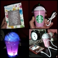 Free Shipping Starbuck power bank 5200MAh starbuck coffee cup external Portable backu