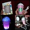 O Envio gratuito de banco de potência 5200 MAh starbuck café Starbuck copo Portátil externa backu