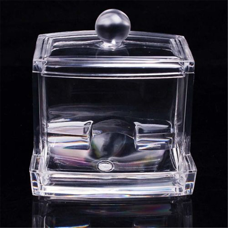 Acrylic Container Make Up organizer Transparent Cotton Swab Storage Box Storage Case Portable Container Makeup Organizer Acrylic in Storage Boxes Bins from Home Garden