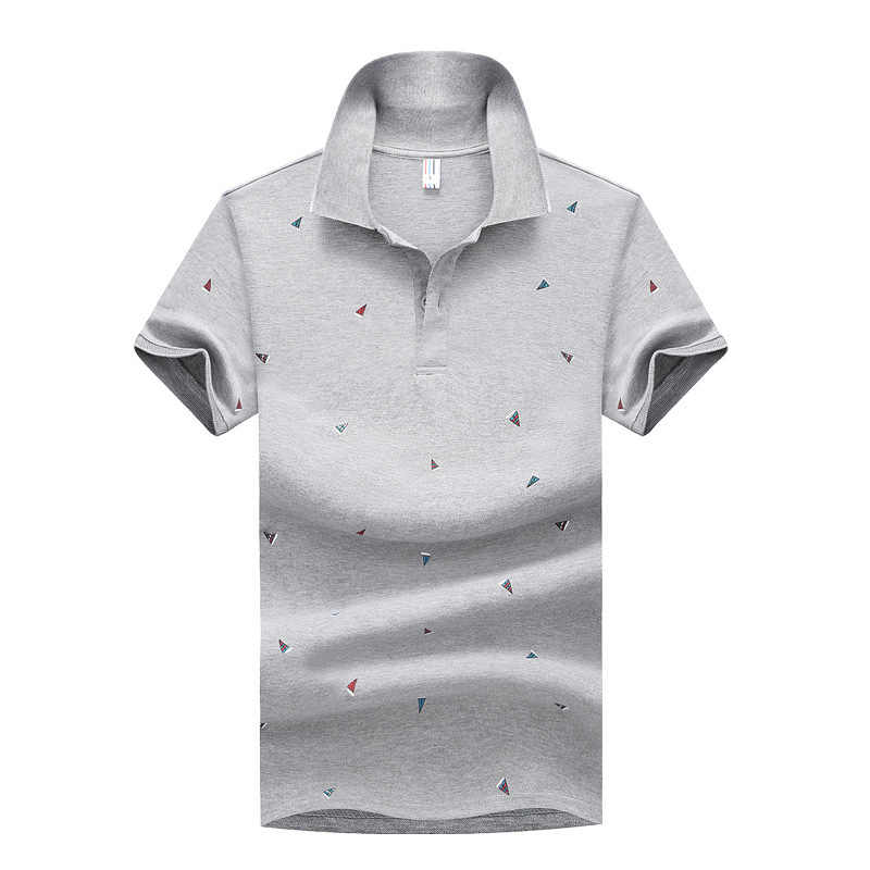 Polo Homme Summer Casual Cotton Polos Mens Streetwear Print Poloshit Men Korean Style Blue Shirt Fashion Breathable Clothing 4XL