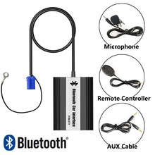 APPS2Car Hands-Free Bluetooth Car Kits USB Auxialiary Input Mp3 Adapter for Seat Arosa 1997-2004