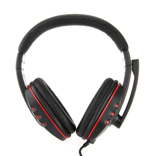 Hot Selling Headset Earphone with Mic Microphone for PS3 Headphone Black
