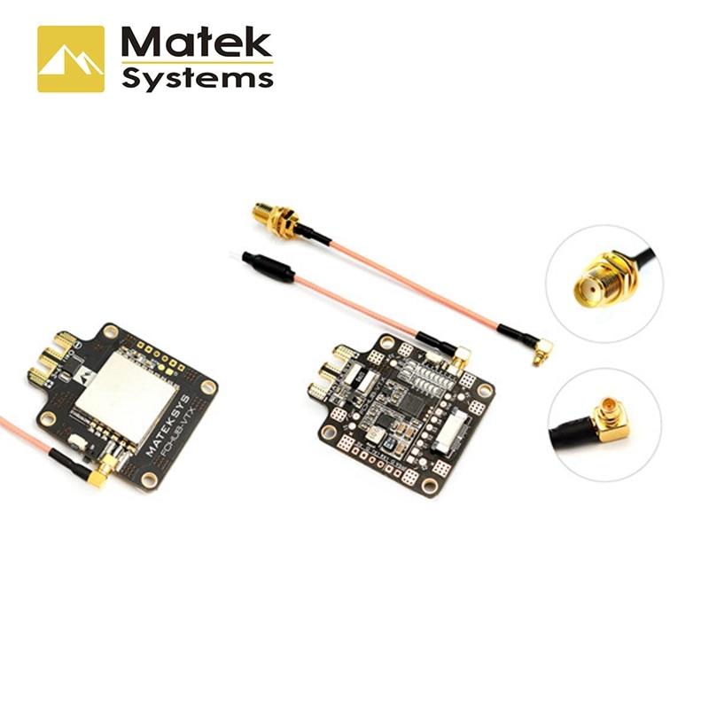 Matek Systems FCHUB-VTX 6~27V PDB 5V/1A BEC w/ 5.8G 40CH 25/200/500mW Switchable Video FPV Transmitter for RC Racing Multirotor