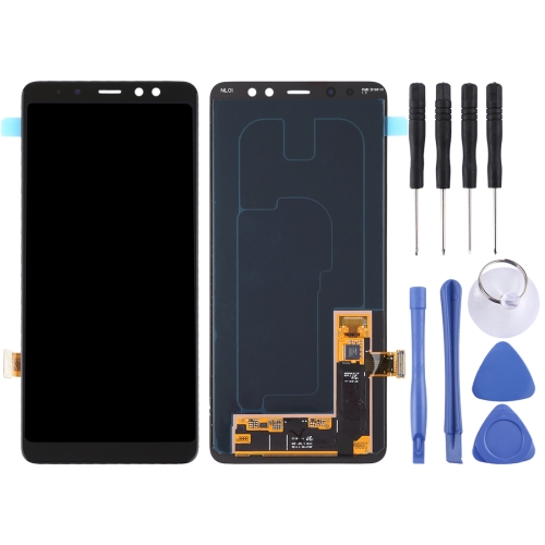 LCD <font><b>Screen</b></font> and Digitizer Full Assembly for Galaxy A8+ (<font><b>2018</b></font>) / <font><b>A7</b></font> (<font><b>2018</b></font>) / A730(Black) image