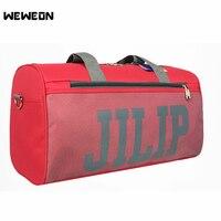 Famale Light Fitness Gym Bag sac De Sport Bags with Net bag Yoga Handbags For Women Shoes Tas Travel Training Waterproof Pink