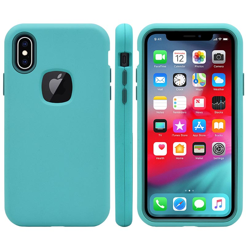 3 en 1 Hybride Antichoc Défenseur étui pour téléphone mat Pour iPhone XR XS MAX 8 7 6 Plus Samsung S9 Plus Note 9