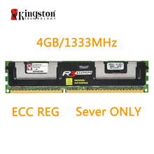 Оперативная память Kingston REG ECC DDR3, 4G, 1333 МГц, 240-контактный разъем, 1,5 в, D51272J91, только для серверов