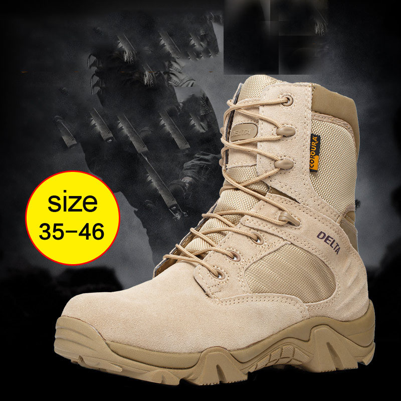 High Quality 2018 Desert boots men commando tactics Warm combat outdoor climbing boots autumn winter tooling Hiking Shoes high quality trumpf style press brake tooling special tooling bending dies