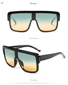 Classic  Men Square sunglasses Women Vintage Oversized Sun Glasses Retro Big Frame Kurt Glasses Lunettes De Soleil Gafas 1