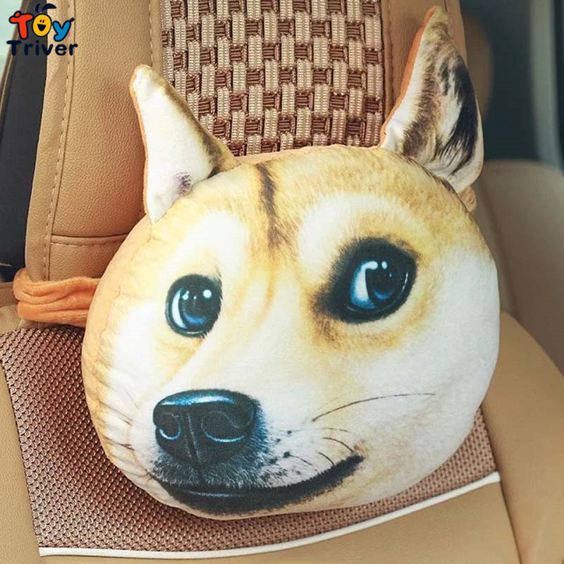 Plush Car Cushion Purify Radiation Air Freshener 3D Dog Tiger Husky Alaskan Satsuma Bulldog Shar Pei Bamboo Charcoal Bag Air