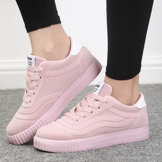 basket shoes femme 2018 Fashion Women breathable Casual shoes Zapatos Mujer  Comfortable platform Flats Walking Shoes chaussure a4ff23fc1bb