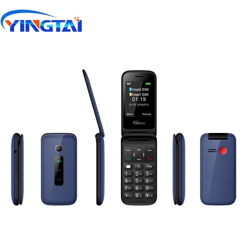 Original YINGTAI T31 MTK 6572 double noyau 2.4 pouces Android Flip téléphone Mobile 3G WCDMA double SIM bouton poussoir téléphones portables