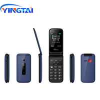 Original YINGTAI T31 MTK 6572 dual core 2.4 inch Android Flip Mobile Phone 3G WCDMA Dual SIM Push button Cell phones