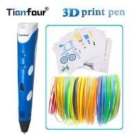 Tianfour 2018 3d kalem 1.75mm ABS smart 3d cetvel kalemi 25 m/50 m/100 m filament kağıt modeli çizim 3d baskı kalem yaratıcı oyuncaklar|3D Kalemler|   -
