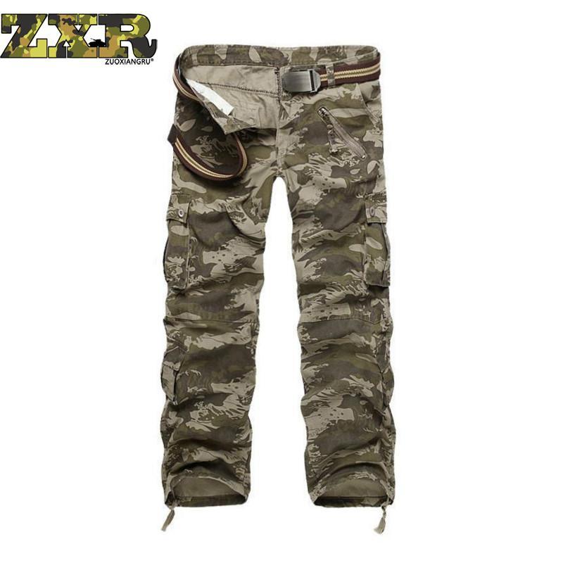 Mâle Camouflage Pantalon homme Pantalon Cargo Décontracté Pour Hommes Pantalon Multi-poches Militaire Globale Pour Hommes En Plein Air Pantalons Longs