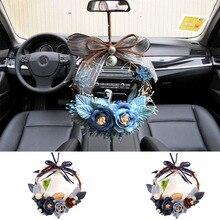 цена на Fashion New Car Pendant DIY Handmade Rose Car Hanging Decoration Deer Car Interior Ornaments Garland Ms gift Automotive Products