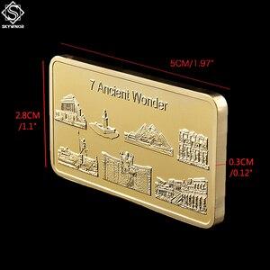 Gold Verkleidet & Überzogene Bars 7 Alte Wonder Souvenir Antike Kopie Gedenk Alten Kultur Münze