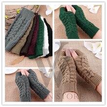 Fashion Soft Warm Mitten Unisex Men Women Knitted Fingerless Winter Gloves