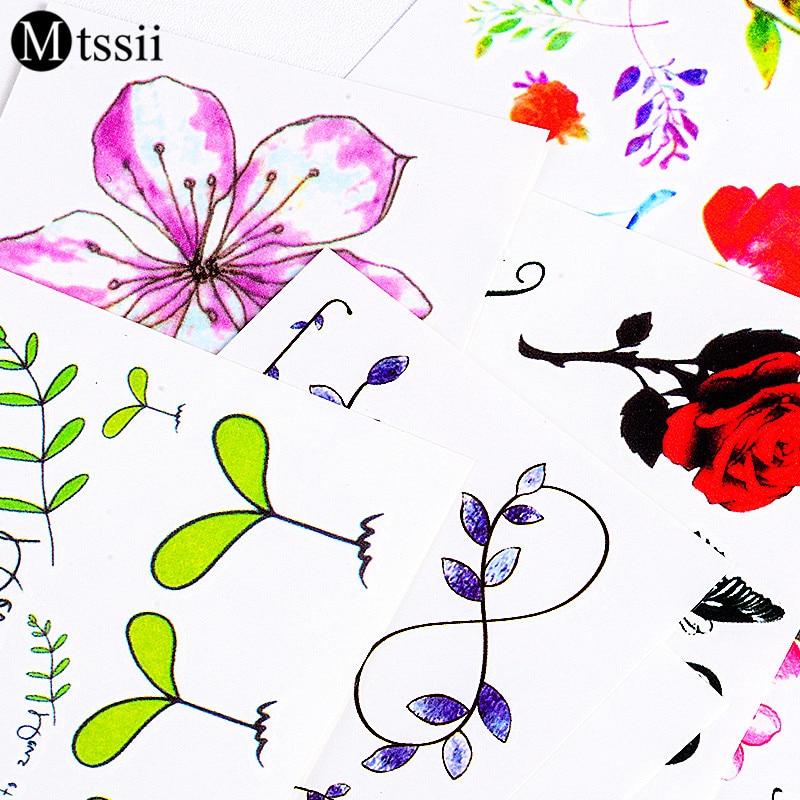 24 designs flower Waterproof temporary tattoo sticker 1