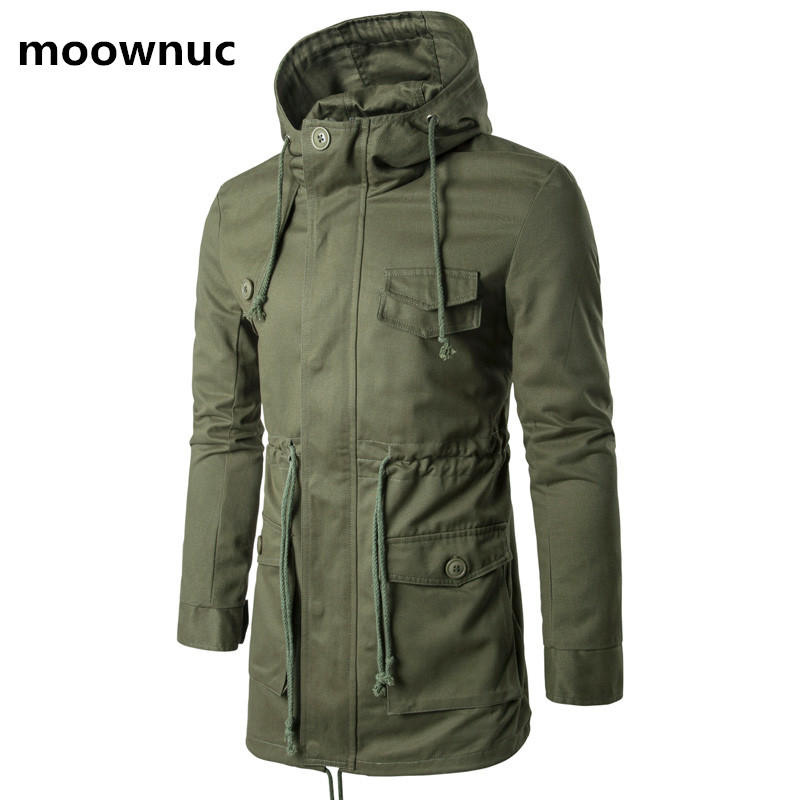 2018 Winter fashion coats Men thicken Jacket Warm Male casual Jackets Mens 100% cotton   trench   coat full Size M- 4XL