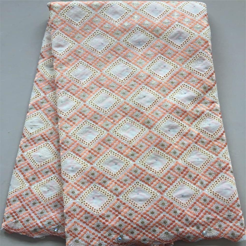 Amour merci dentelle africaine nigéria broderie coton robe de mariée suisse Voile dentelle tissu X49-1