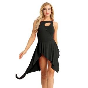 Image 5 - YiZYiF 女性バレエドレスノースリーブバレエダンスレオタード女性ドレス feminino 現代ダンスステージパフォーマンスダンスドレス