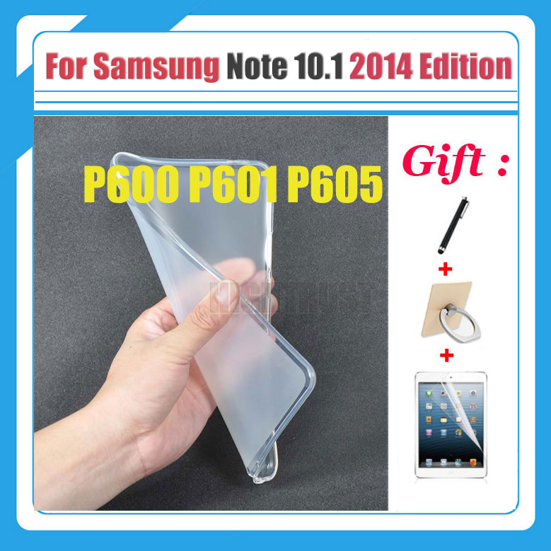 For Samsung Galaxy Note 10.1 2014 Edition P600 P601 P605 Cover case Slim Crystal Soft TPU Silicone Protective Back Cover 3 Gifts protective tpu pvc case w pet screen protector for samsung galaxy note 10 1 2014 edition p600