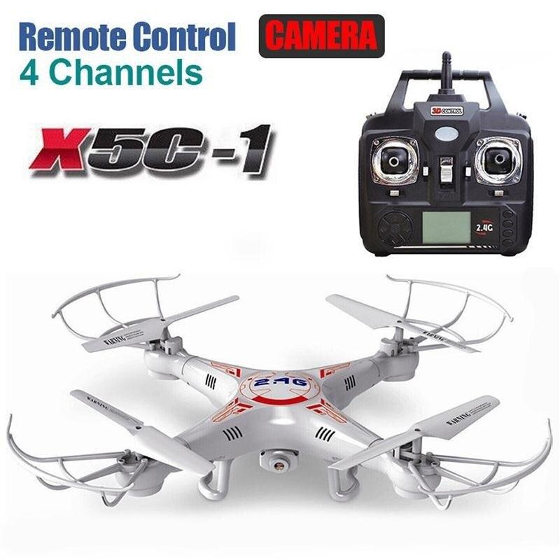 X5c-1 4-Axis RC Zangão Quadcopter 2MP Quadcopter RC Display LCD 360 graus Rolo Aeronave Helicóptero Brinquedos de Controle Remoto