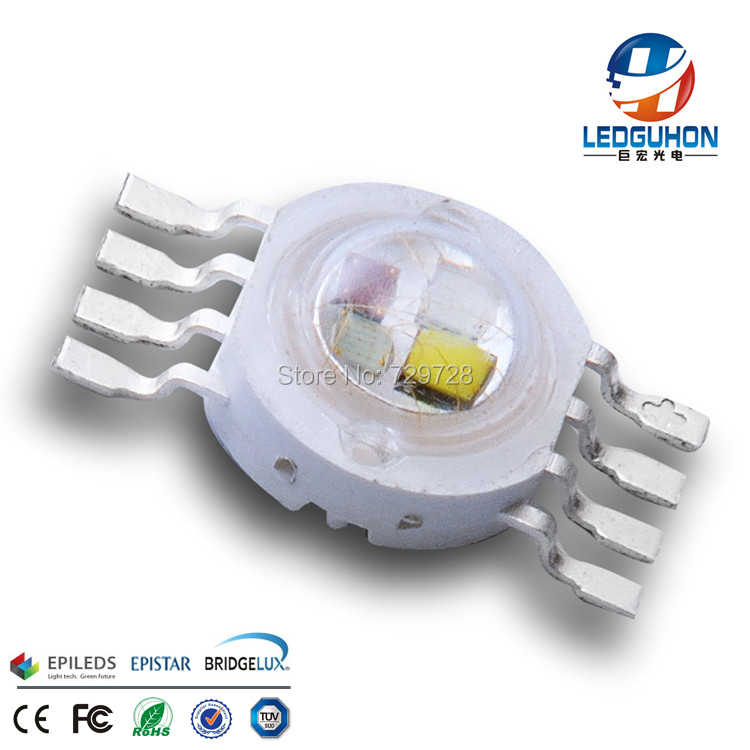 8W 4 in1 high brightness good mix color RGBW full color high power led diodes