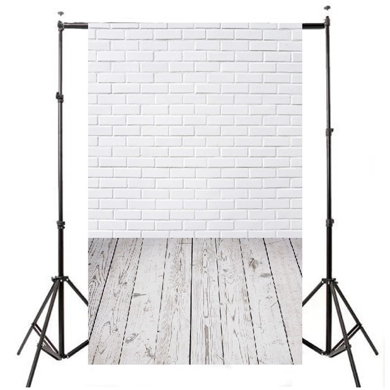 3x5ft Vinyl Photography Background For Studio Photo Props  Brick Wall Floor Photographic Backdrops 90x150cm black and white grids floor photography background hollow vinyl photo backdrops for photo studio funds props cm 4785