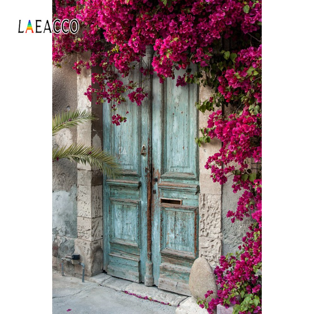 Laeacco Old Rural House Porch Yard Vine Door Spring Baby Portrait Photo Backgrounds Photography Backdrops Photocall Photo Studio