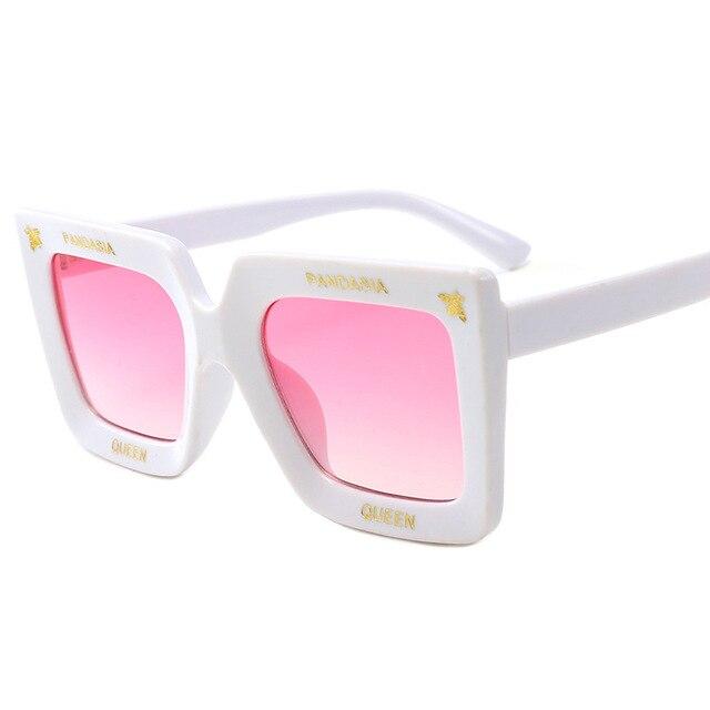 New Arrival 2019 Steampunk Baby Children Sunglasses Big Frame Square Bee Sun Glasses Kids Glasses for Girls Boys Oculos